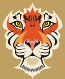 Tiger face. High quality vector Royalty Free Stock Photo
