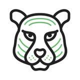 Tiger Face Photo libre de droits