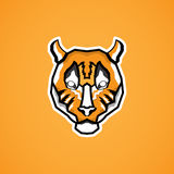 Tiger face. In flat design Stock Photo