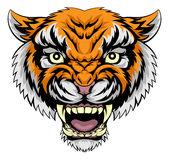 Tiger face illustration. An illustration of a mean powerful tiger animal face Royalty Free Stock Image