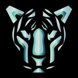 Tiger Face logo concept `Editable Vector`. An illustration of a tiger face that could fit perfectly as a logo for a Gym, or for a security company Stock Photo