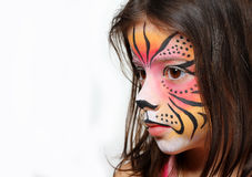 Tiger face paint Royalty Free Stock Photo