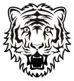 Vector tiger face. Vector stylized black and white tiger face Royalty Free Stock Image