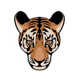 Tiger  face  vector illustration style Flat Royalty Free Stock Images