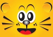 Tiger face wallpaper. Illustration of funny cartoon tiger face wallpaper Stock Images