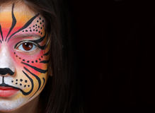 Tiger facepaint Stock Images