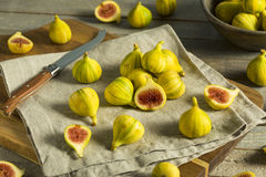 Tiger Figs orgânico amarelo cru fotos de stock