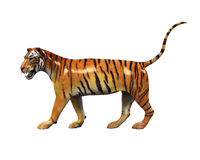 Tiger Figure Isolated Royaltyfria Foton