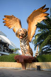 Tiger flying. Tiger with wings so strong and angry, flying tiger royalty free stock images