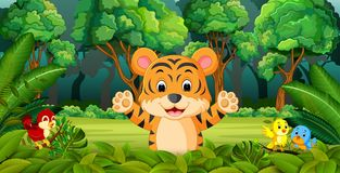 Tiger in the forest. Illustration of Tiger in the forest royalty free illustration