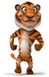 Tiger. Fun tiger, 3d generated illustration Royalty Free Stock Images
