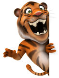 Tiger. Fun tiger, 3d generated illustration Royalty Free Stock Image