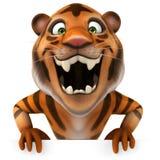 Tiger. Fun tiger, 3d generated illustration Stock Images