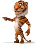 Tiger. Fun tiger, 3d generated illustration Stock Photos
