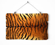 Tiger fur notice board Royalty Free Stock Photos