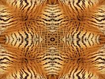 Tiger fur pattern. Orange and yellow tiger fur kaleidoscope pattern Royalty Free Stock Photography