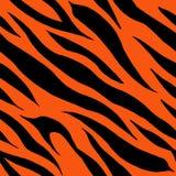 Tiger fur terracotta orange skin texture seamless pattern royalty free illustration