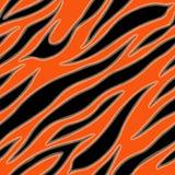 Tiger fur terracotta orange skin texture seamless pattern vector illustration