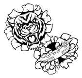 Tiger Gamer Esports Animal Mascot Images stock