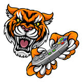 Tiger Gamer Player Mascot Photo stock
