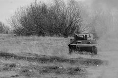 Tiger Tiger German Wederopbouw van vijandigheden 2018-04-30 Samara, Rusland royalty-vrije stock foto
