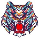Tiger graffiti vector. For wallpaper wall Royalty Free Stock Photography