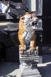 Tiger guards of the house, Nusa Penida, Indonesia Stock Images