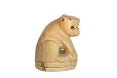 Tiger handmade by wood. Amulet from thailand Royalty Free Stock Image