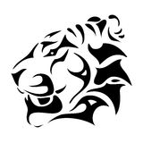 Tiger head. Vector illustration of tiger head - tribal Royalty Free Stock Images