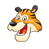 Tiger head. Cartoon Tiger head isolated on white Royalty Free Stock Images
