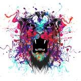 Tiger Head abstracto Fotografía de archivo