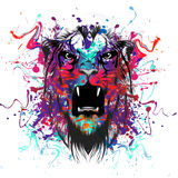 Tiger Head abstrait Photographie stock