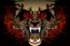 Tiger Head abstrait Images stock