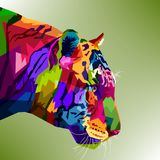 Tiger Head Colorful Photographie stock