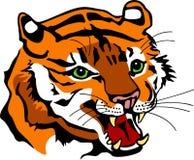 Tiger Head de grondement illustration de vecteur