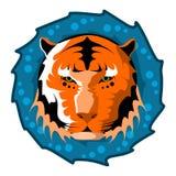 Tiger Head ejemplo del vector del diseño Imagenes de archivo