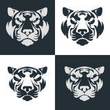 Tiger head emblem. Stock Photo
