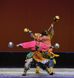"""Tiger head hat-Children's Beijing Opera""""Yue teenager"""" Royalty Free Stock Photography"""