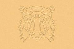 Tiger Head i sanden vektor illustrationer