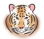 Tiger head illustration Royalty Free Stock Photo
