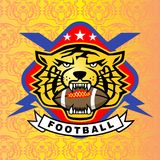 Tiger Head Logo Photo libre de droits