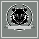 Tiger head logo emblem Stock Photo