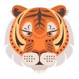 Tiger Head Logo Emblema decorativo del vector Fotos de archivo libres de regalías