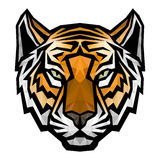 Tiger head logo mascot on white background Stock Image