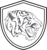 Tiger Head Mascot Tattoo Fotos de archivo