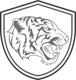 Tiger Head Mascot Tattoo Stock Photos