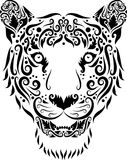 Tiger head ornament stock photography