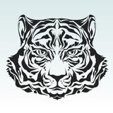 Tiger Head Silhouette Stock Images