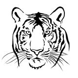 Tiger head silhouette, Vector Royalty Free Stock Photography