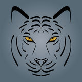 Tiger head silhouette. Stock Images